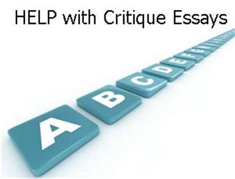 How to write a critcal essay